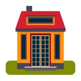 House front view vector illustration Royalty Free Stock Photography