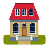House front view vector illustration Royalty Free Stock Images