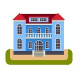 House front view vector illustration Stock Photography