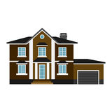 House front view vector illustration Stock Photo