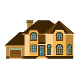 House front view vector illustration Royalty Free Stock Image