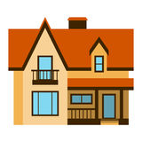 House front view vector illustration Royalty Free Stock Photos