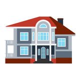 House front view vector illustration Royalty Free Stock Photo