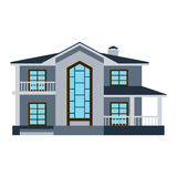 House front view vector illustration Stock Images