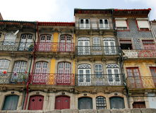 House Fronts in Porto Royalty Free Stock Photos