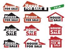 house försäljningen Arkivbild