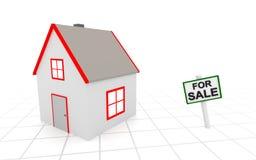 house försäljningen Royaltyfri Foto