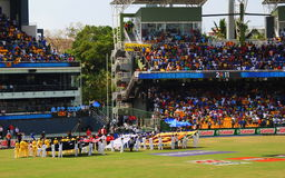 House Full Stadium at Cricket World Cup Match Royalty Free Stock Photos