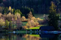 House on fulsch lake in Salzburg,Austria Stock Images