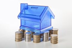 House fundation and coin Stock Photography