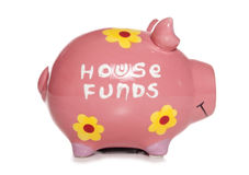 House funds piggy bank Stock Photography