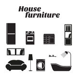 House furniture icons set Stock Images