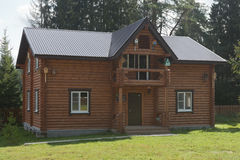 House of Fyodor Konyukhov in recreation camp `School of travelers Of Fedor Konyukhov` in Totemsky District, Vologda region Stock Photo