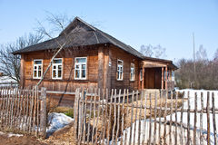 House of Gagarin family. APR 3, 2011, KLUSHINO, RUSSIA - Rural house in village Klushino, birtplace of the first cosmonaut Yuri Gagarin Stock Images