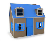 Blue house for games Royalty Free Stock Photos