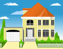 House with garage Royalty Free Stock Image
