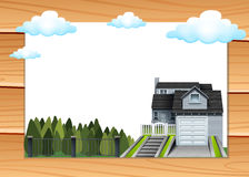 House with garage and driveway Stock Photography