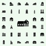 house with garage icon. house icons universal set for web and mobile royalty free illustration