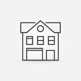 House with garage line icon Royalty Free Stock Photo