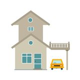 House with Garage. Garage, parking, house icon vector image.Can also be used for home. Suitable for mobile apps, web apps and print media Stock Photos