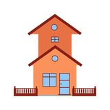 House with Garage. Garage, parking, house icon vector image.Can also be used for home. Suitable for mobile apps, web apps and print media Royalty Free Stock Photo