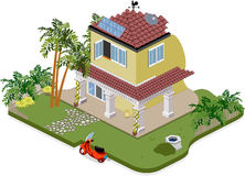 House with garden. Nice house with trees and garden stock illustration