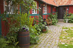 House with garden Stock Photos