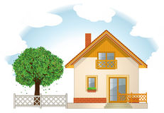 House and Garden Royalty Free Stock Photography