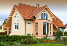 House with garden royalty free stock image