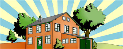 House with garden Stock Photo