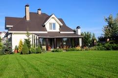 House and garden. A house and its garden Royalty Free Stock Photos