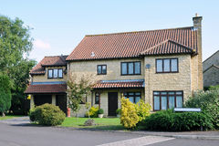 House and Garden. On a Typical English Residential Estate Royalty Free Stock Photography