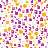 The house in the garden background Royalty Free Stock Image