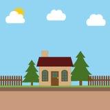 House in garden Stock Photos