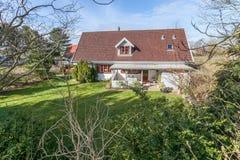 House and garden in denmark Stock Photo