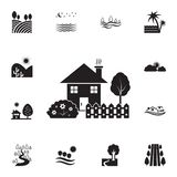 house with garden icon. Detailed set of landscapes icons. Premium graphic design. One of the collection icons for websites, web vector illustration