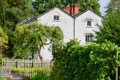 House in the garden. Quarry bank mill wilmslow Cheshire England united kingdom stock photography