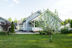 A house with a garden Royalty Free Stock Photo