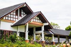House and garden Stock Photo