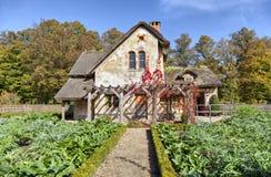 House of gardener in Marie-Antoinette's estate in Versailles Stock Images