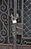 House gate padlock Stock Photo