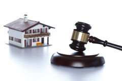House and gavel Royalty Free Stock Photo