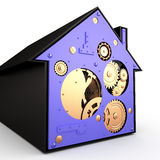 House with gears, 3D Royalty Free Stock Image