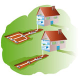 House and geothermics Royalty Free Stock Image