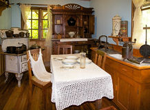House at the German Museum at Frutillar, Chile. Interior of the farmhouse at the German Museum a Frutillar, a town in Southern Chile in the Los Lagos Region on Royalty Free Stock Photography