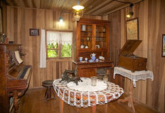 House at the German Museum at Frutillar, Chile. Interior of the farmhouse at the German Museum a Frutillar, a town in Southern Chile in the Los Lagos Region on Stock Image