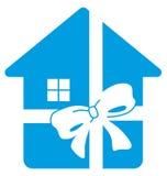 House in gift vector illustration