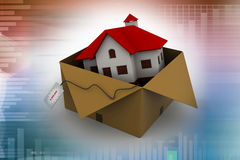 House in gift box Royalty Free Stock Images