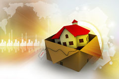 House in gift box Royalty Free Stock Photography