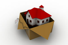 House in gift box Stock Photography